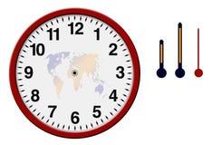 时钟用分隔的现有量 库存照片