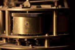 时钟的嵌齿轮和轮子 库存图片