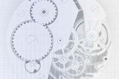 时钟的抽象背景 向量例证