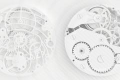 时钟的抽象背景 库存例证