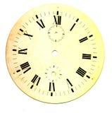 时钟的难看的东西圆的面孔 库存图片