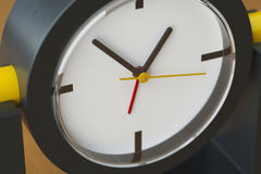时钟箭头特写镜头图象 3d例证 免版税库存图片