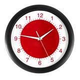 时钟红色 免版税库存照片