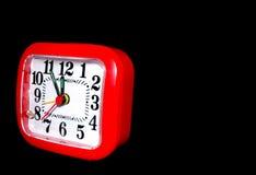 时钟红色 库存图片