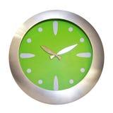 时钟绿色 图库摄影