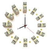 时钟美元 库存图片
