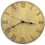 时钟老来回样式墙壁 库存照片