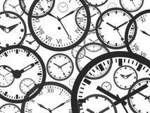 时钟背景-被隔绝的传染媒介例证 库存照片