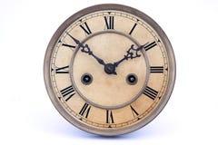 时钟葡萄酒墙壁 免版税库存照片