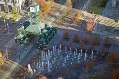 时钟街市孟菲斯方形塔 免版税库存照片