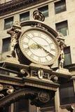 时钟街市老匹兹堡街道 库存照片