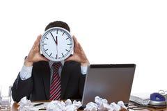 时钟表盘曼压时间下 免版税图库摄影