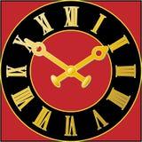 时钟表盘红色 皇族释放例证