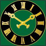 时钟表盘绿色 皇族释放例证