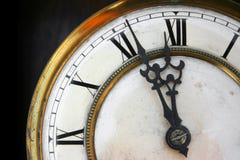 时钟表盘老十二 免版税库存图片