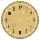 时钟表盘葡萄酒 皇族释放例证