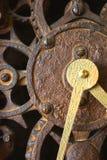 时钟表盘齿轮 免版税库存照片
