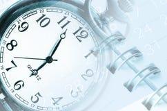 时钟表盘,日历 免版税库存图片
