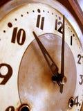 时钟被塑造的老 免版税库存图片