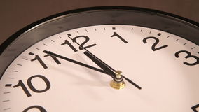 时钟装饰房子墙壁 股票录像