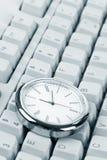 时钟计算机键盘 库存图片