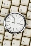 时钟计算机键盘 库存照片