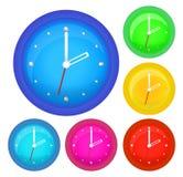 时钟设置了六 免版税图库摄影