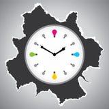 时钟设计 库存图片