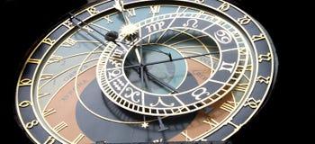 时钟详细资料布拉格 免版税库存照片