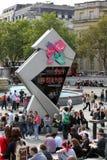 时钟读秒伦敦奥林匹克 免版税库存照片