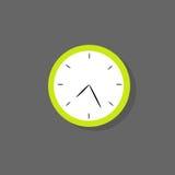 时钟象颜色平的设计传染媒介 库存例证