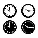 时钟象,传染媒介例证 免版税库存照片