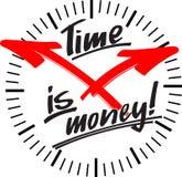 时钟货币时间 库存例证