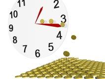 时钟货币 库存图片