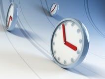 时钟运行 库存例证
