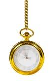 时钟通过减速火箭的时间的概念金子 库存照片