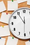 时钟附注墙壁 免版税库存照片