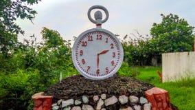 时钟雕象 库存图片