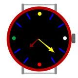 时钟颜色 皇族释放例证