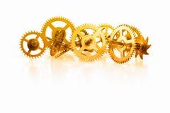 时钟齿轮的一汇集 免版税库存图片