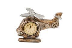 时钟以直升机的形式 免版税库存照片