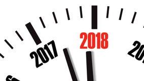 时钟读秒的动画从年2017年到2018年 UltraHD 4K录影 股票视频