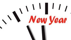 时钟读秒的动画对新年 库存例证