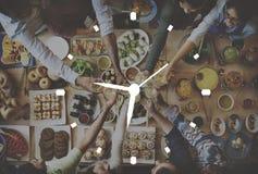 时钟组织管理准确性效率概念 免版税库存照片