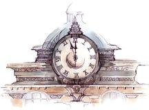 时钟 库存例证