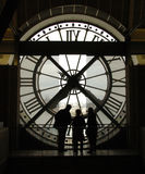 时钟d博物馆orrsey巴黎 免版税库存图片