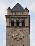时钟dc办公室老过帐塔华盛顿 免版税图库摄影