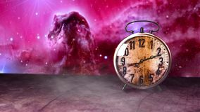 时间和宇宙 库存例证
