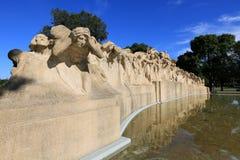 时间喷泉  免版税库存照片