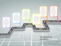 时间安排企业概念infographic模板, 皇族释放例证